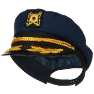 Jacobson Hat Company Yacht Skipper Hat Ship Captain Cap Costume Sailor Boat Ship Captains,Navy,Adjustable