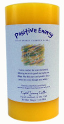 """6"""" x 3"""" Crystal Journey Herbal Magic Reiki Charged Pillar Candle, Positive Energy"""