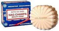 Satya Nag Champa: Sai Baba Natural Soap, Large, 150 g, 5 oz, 4 Piece