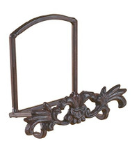 1 X Cast Iron Metal Motif Plate Art Holder Stand Display