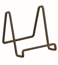 TRIPAR Mahogany Metal Square Wire Stand 6""