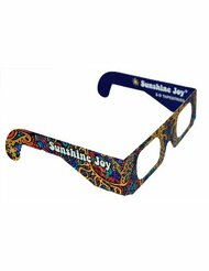 Sunshine Joy 3D Glasses - Card Stock - Amazing 3-D Effects - Works on all 3-D Reactive Images - For Indoor Use Only