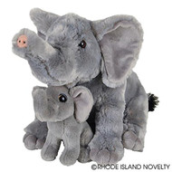"Birth of Life Elephant with Baby Plush Toy 11"" H"