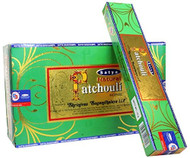 Natural Patchouli Incense Sticks - By Satya Nag Champa - Pack of 15 G X 12 Boxes - 180 G Total