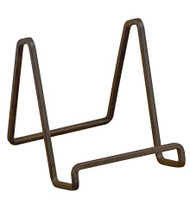 """3"""" Mahogany Metal Square Wire Stand Plate Photo Display Stand"""