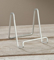 "6"" Silver Metal Square Wire Stand Plate Book Easel Display Holder"