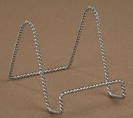 """6"""" Twisted Chrome Wire Stand Plate Holder Display"""