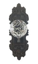 Decorative Pewter Wall Hook, Vintage Door Knob Style (Black)