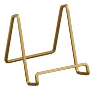 """TRIPAR 50224 4"""" Square Wire Stand Plate Art Photo Holder, Gold Metal"""