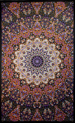Sunshine Joy Glow In The Dark India Star Mandala Tapestry