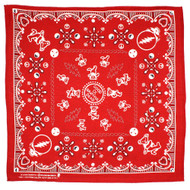 Sunshine Joy Good Ol' Grateful Dead Bandana Red