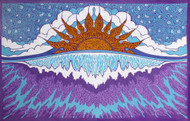 Sunshine Joy Sun Wave Surf Tapestry Tablecloth Beach Sheet Wall Art 60x 90 Inches - Sunset