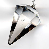 Natural Quartz Crystal Pendulum.. Facet Reiki Charged