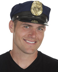 Jacobson Hat Company Mens Police Cap, Navy, Adult