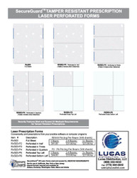 GEORGIA RX503-P SECUREGUARD PERFORATED PRESCRIPTION PAPER - 500 sheets
