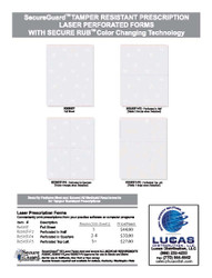 GEORGIA RX503T THERMAL RUB STRIP SECUREGUARD PRESCRIPTION PAPER - 500 sheets