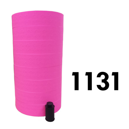 Pink labels for Monarch 1131 labeler