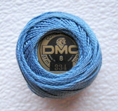 SIZE 5 DMC Perle Cotton Embroidery Thread Medium Baby Blue 334