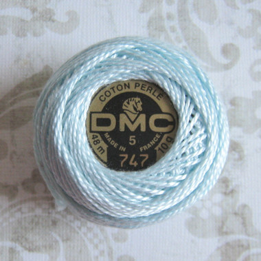 DMC Pearl Cotton Embroidery Thread Balls Size 8 - 747 Very Light Sky Blue