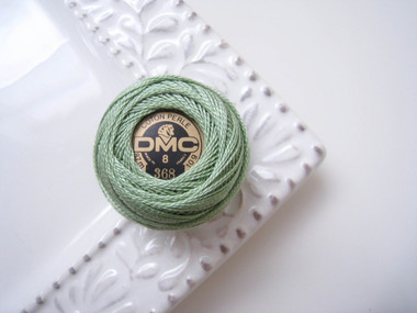 DMC Perle Cotton EmbroideryThread Size 8 Light Pistachio Green 368