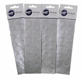 60 Silver Beaded Seal Stickers by Wilton