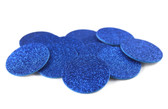 Royal Blue Glitter Adhesive Foam Circles