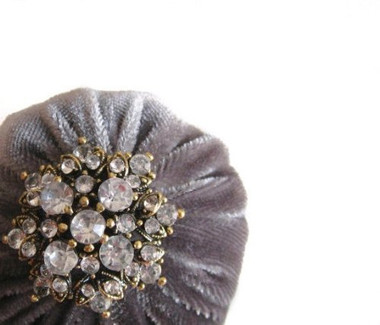 Gray Velvet Pincushions for Sale