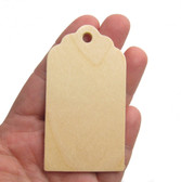 Fancy curvy wooden tags ornament craftparts cutout unfinished