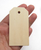 "Large wooden tag, unfinished birch made in Usa, 3"", cutout, craftparts"