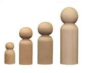 Wooden male Peg Doll Bodies | father, dad, son, brother, groom