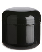 2 oz Black Double Wall Plastic Jar