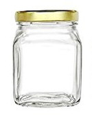 Nakpunar 9 oz square glass jar
