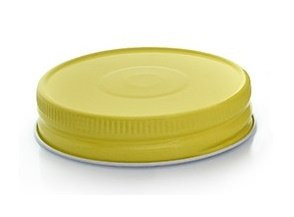 Yellow Metal Mason Jar Lid/Cap 70/450