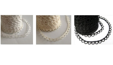 Non-Elastic Bridal Button Looping Trim - Ready to use Bridal Button Loops