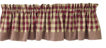 "York Wine Valance - 72""x14"""