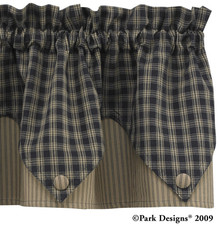 Sturbridge Star Black Lined Point Valance 72 Quot X 15 Quot Ben
