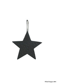 Black Star Shower Curtain Hooks