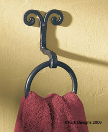 Forged Scroll Ring Towel Hook