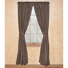 "Sturbridge Black Lined Drapes 72"" x 84"""