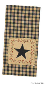 Star Patch Decorative Dishtowel