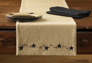 Runner- Burlap Star Berry- 13x54- Park Designs