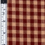 Wine and Natural Check Fabric