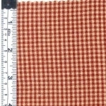 Red/Natural Rustic Woven Fabric