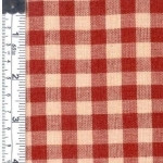 Red/Natural Check Woven Fabric