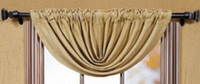 Victorian Heart Burlap Natural Balloon Valance 60x15