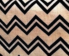 Burlap Black Chevron Fabric