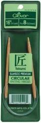 "Clover Bamboo Circular Knitting Needles 16"" Size 5"