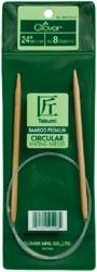 "Clover Bamboo Circular Knitting Needles 24"" Size 5"