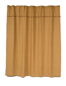 Shower Curtain- Burlap Natural- 72x72- Victorian Heart (full view)