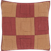 Ninepatch Star Quilted Euro Sham-26x26-VHC (front View)